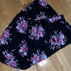 See You Monday Floral Print Maxi Skirt